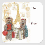 Etiquetas del regalo de París de la torre Eiffel d