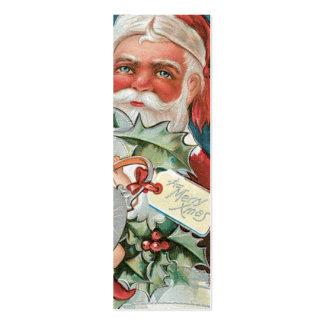 Etiquetas del regalo de Santa del Victorian Plantilla De Tarjeta De Visita