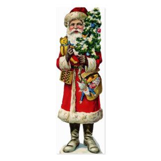 Etiquetas del regalo de Santa del vintage Tarjetas De Visita Mini