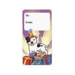 Etiquetas del regalo de Staffordshire bull terrier Etiquetas De Dirección