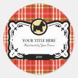 Etiquetas del regalo de Terrier del escocés Pegatinas Redondas