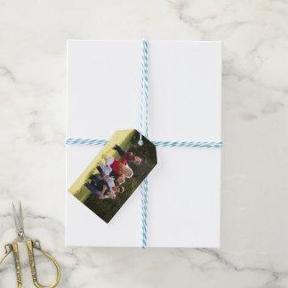 Etiquetas del regalo de vacaciones de la foto de etiquetas para regalos