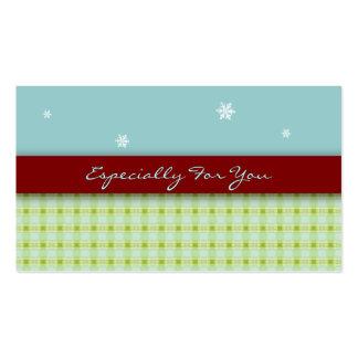 Etiquetas del regalo de vacaciones: Impresión verd Plantilla De Tarjeta Personal