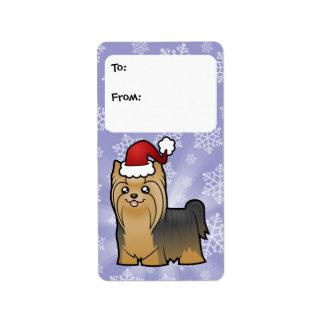 Etiquetas del regalo de Yorkshire Terrier del Etiquetas De Dirección