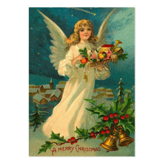 Etiquetas del regalo del ángel del navidad del tarjetas de visita grandes