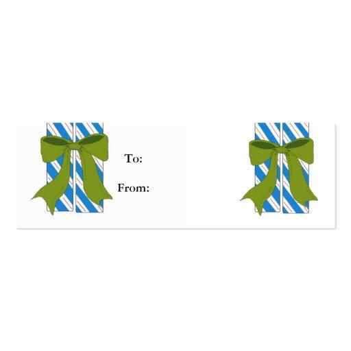 Etiquetas del regalo del bastón de caramelo tarjetas de visita mini