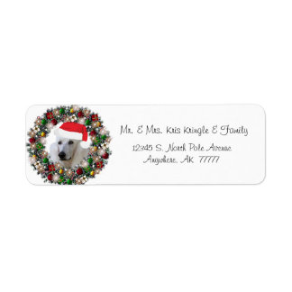 Etiquetas del regalo del caniche de la guirnalda d etiquetas de remite