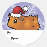 Etiquetas del regalo del conejillo de Indias del Etiqueta Redonda