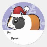Etiquetas del regalo del conejillo de Indias del Pegatinas Redondas