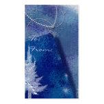 Etiquetas del regalo del copo de nieve tarjetas personales