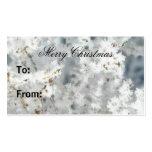 Etiquetas del regalo del copo de nieve plantilla de tarjeta de negocio