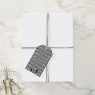 Etiquetas del regalo del diseño del vestuario de etiquetas para regalos