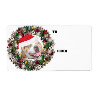 Etiquetas del regalo del dogo de la guirnalda del etiquetas de envío