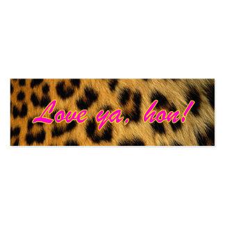 Etiquetas del regalo del estampado leopardo plantillas de tarjeta de negocio