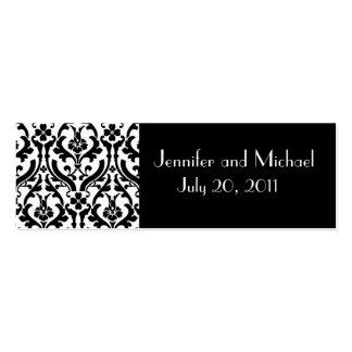 Etiquetas del regalo del favor del boda del tarjetas de visita mini
