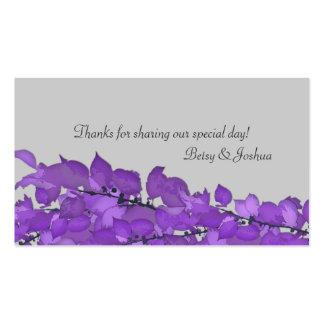 Etiquetas del regalo del favor del boda tarjetas de visita