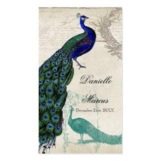 Etiquetas del regalo del favor - pavo real 5 del v tarjeta de visita