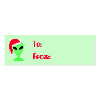 Etiquetas del regalo del gorra de Santa de los Tarjetas De Visita Mini