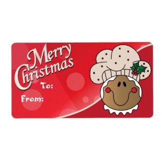 Etiquetas del regalo del hombre de pan de jengibre etiquetas de envío