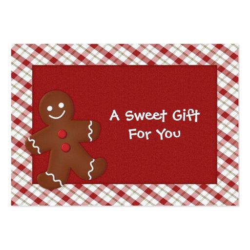 Etiquetas del regalo del hombre de pan de jengibre plantilla de tarjeta personal