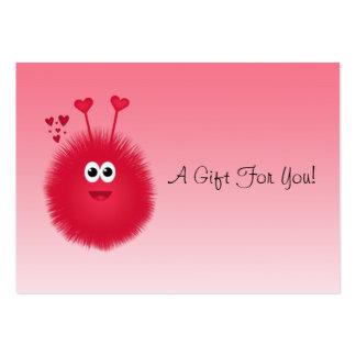 Etiquetas del regalo del insecto del amor tarjetas de visita grandes