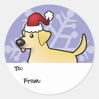 Etiquetas del regalo del labrador retriever del na etiquetas redondas