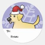 Etiquetas del regalo del labrador retriever del etiquetas redondas
