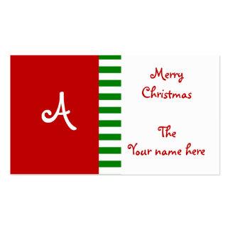Etiquetas del regalo del monograma tarjetas de negocios