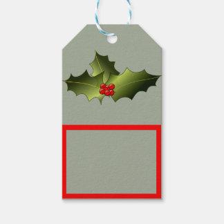 Etiquetas del regalo del muérdago etiquetas para regalos