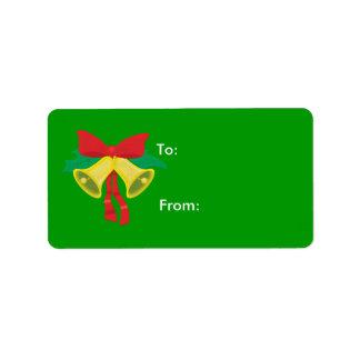 Etiquetas del regalo del navidad etiquetas de dirección