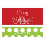 Etiquetas del regalo del navidad de la cadera tarjetas de visita
