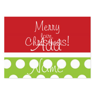 Etiquetas del regalo del navidad de la cadera tarjetas de visita grandes