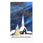 Etiquetas del regalo del navidad de la iglesia Nev Tarjetas De Negocios