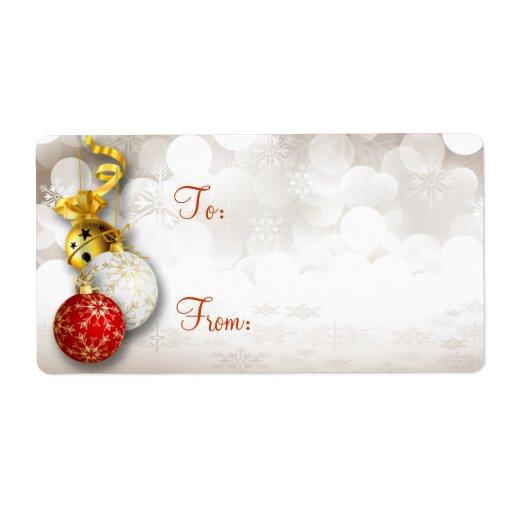 Etiquetas del regalo del navidad de las chispas de etiquetas de envío