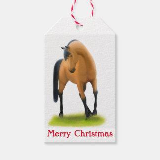 Etiquetas del regalo del navidad de los caballos etiquetas para regalos
