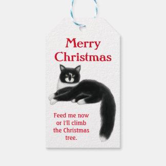 Etiquetas del regalo del navidad de los gatos del etiquetas para regalos