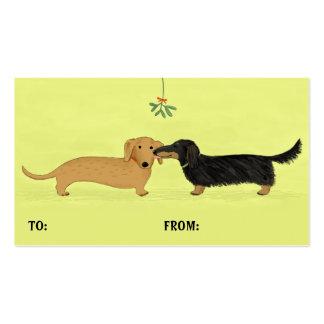 Etiquetas del regalo del navidad del beso del muér tarjetas de visita