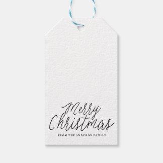 Etiquetas del regalo del navidad del día de fiesta etiquetas para regalos