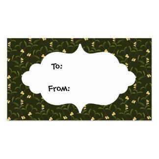 Etiquetas del regalo del navidad del muérdago tarjetas de visita