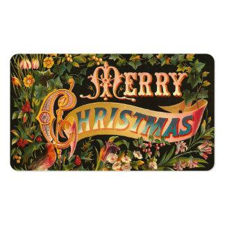 Etiquetas del regalo del navidad del Victorian o m Plantilla De Tarjeta De Visita