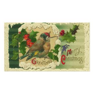 Etiquetas del regalo del navidad del Victorian Tarjeta De Negocio