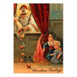 Etiquetas del regalo del navidad del vintage plantilla de tarjeta de visita