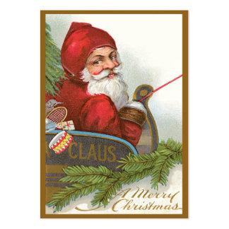 Etiquetas del regalo del navidad del vintage plantilla de tarjeta de negocio