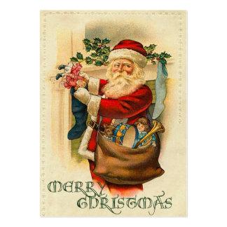 Etiquetas del regalo del navidad del vintage plantilla de tarjeta personal