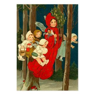 Etiquetas del regalo del navidad del vintage tarjetas de visita grandes