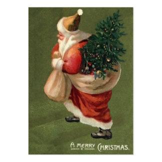Etiquetas del regalo del navidad del vintage tarjeta personal
