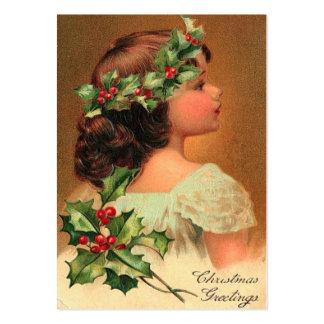 Etiquetas del regalo del navidad del vintage tarjetas personales
