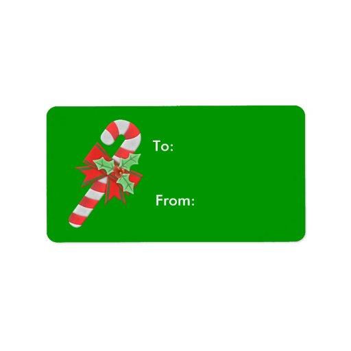 Etiquetas del regalo del navidad etiqueta de dirección