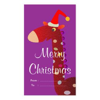 Etiquetas del regalo del navidad: Jirafa roja Tarjeta De Negocio