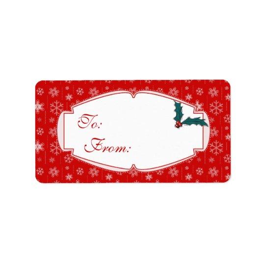 Etiquetas del regalo del navidad rojo y etiquetas de dirección